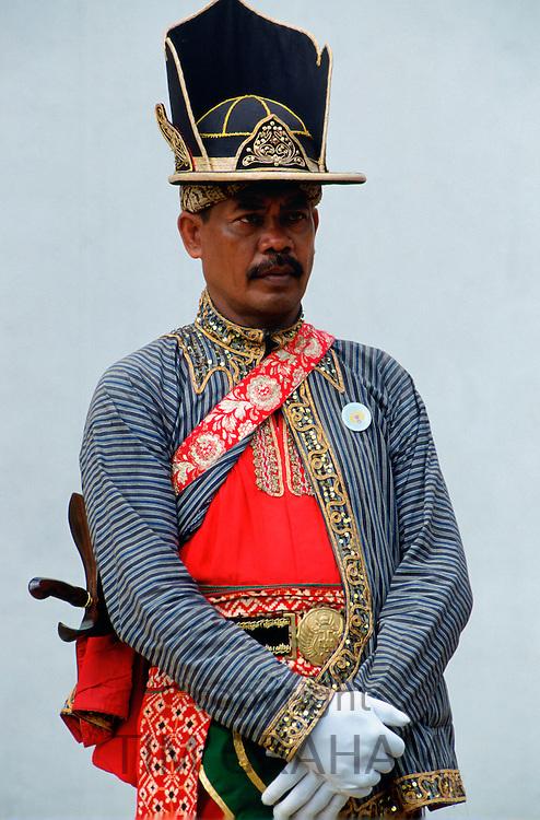 Ceremonial dress at Sultan's Palace, Yogya Karta, Indonesia