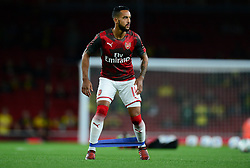Theo Walcott of Arsenal warms up prior to kick off. - Mandatory by-line: Alex James/JMP - 24/10/2017 - FOOTBALL - Emirates Stadium - London, England - Arsenal v Norwich City - Carabao Cup