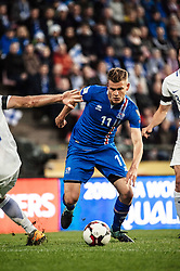 September 2, 2017 - Tampere, Finland - Iceland's Alfred Finnbogason and during the FIFA World Cup 2018 Group I football qualification match between Finland and Iceland in Tampere, Finland, on September 2, 2017. (Credit Image: © Antti Yrjonen/NurPhoto via ZUMA Press)