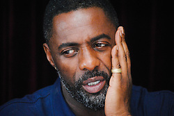 """Idris Elba at the Hollywood Foreign Press Association press conference for """"The Mountain Between Us"""" held in Toronto, Ontario on September 9, 2017.  (Photo by Yoram Kahana/Shooting Star) *** NO TABLOID PUBLICATIONS ***"""