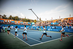 Ball boys during Final match at Day 10 of ATP Challenger Zavarovalnica Sava Slovenia Open 2019, on August 18, 2019 in Sports centre, Portoroz/Portorose, Slovenia. Photo by Vid Ponikvar / Sportida