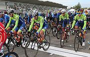 Tadej Pogacar, Jan Polanc and Primoz Roglic of Slovenia during the 2020 UCI World Road Championships, Men Elite Road Race, on September 27, 2020 at Autodromo Enzo and Dino Ferrari in Imola, Italy - Photo Laurent Lairys / ProSportsImages / DPPI