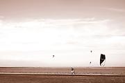 Beachlife, having fun with kiteboarding. The Hague, Netherlands 2013