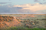 Breaking Thunderstorm at Sunset, E. WA.