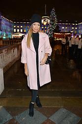SARAH-JANE CRAWFORD at Skate At Somerset House with Fortnum & Mason on 16th November 2016.