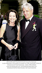 DR & MRS GERT RUDOLPH FLICK he is the German multi-millionaire, at a party in London on 18th June 2001.OPM 57