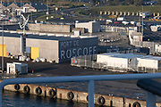 Port of Roscoff on 26th September 2021 in Roscoff, Brittany, France. Brittany Ferries is the trading name of the French shipping company, BAI Bretagne Angleterre Irlande S.A. founded in 1973 by Alexis Gourvennec, that operates a fleet of ferries and cruise ferries between France and the United Kingdom.