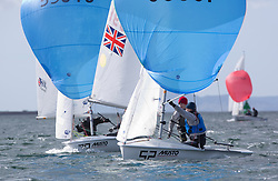 The annual RYA Youth National Championships is the UK's premier youth racing event. Perfect conditions for the fourth days racing.<br /> <br /> 56091, Jack Lewis, Charlie Bacon, Draycote Water Sailing club, 420 Boy <br /> <br /> Images: Marc Turner / RYA<br /> <br /> For further information contact:<br /> <br /> Richard Aspland, <br /> RYA Racing Communications Officer (on site)<br /> E: richard.aspland@rya.org.uk<br /> m: 07469 854599