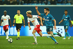 November 5, 2019, St. Petersburg, Russia: Russian Federation. Saint-Petersburg. Gazprom Arena. Football. UEFA Champions League. Group G. round 4. Football club Zenit - Football Club RB Leipzig. Player of Zenit football club Magomed Ozdoev  (Credit Image: © Russian Look via ZUMA Wire)