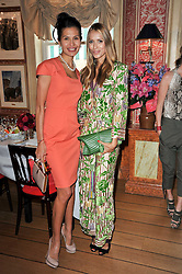 Left to right, GOGA ASHKENAZI and ALEXANDRA MELNICHENKO at a lunch hosted by Roger Viver in honour of Bruno Frisoni their creative director, held at Harry's Bar, 26 South Audley Street, London on 31st March 2011.