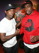 l to r: Talib Kweli and David Banner at The Sony HipHop Live Tour featuring Talib Kweli and David Banner held at The Nokia Theater on October 25, 2008 in NYC