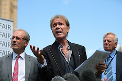 © Licensed to London News Pictures. 01/07/2019. London, UK. Sir Cliff Richard joins Paul Gambaccini and others at the launch of a campaign calling for a ban on naming sex crime suspects unless they have been charged. Photo credit: Rob Pinney/LNP