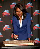 Angela Robinson's Planet Hollywood Handprint Ceremony