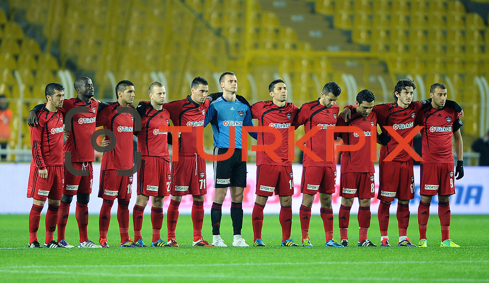Gaziantepspor's players during their Turkish superleague soccer match Fenerbahce between Gaziantepspor at the Sukru Saracaoglu stadium in Istanbul Turkey on Monday09 January 2011. Photo by TURKPIX