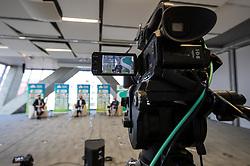Camera during press conference of Tenis Slovenija when presented WTA Portoroz 2021 tournament, on February 18, 2021 in Kristalna palaca, Ljubljana, Slovenia. Photo by Vid Ponikvar / Sportida