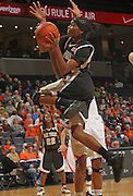 Feb. 3, 2011; Charlottesville, VA, USA; Wake Forest Demon Deacons guard Secily Ray (23) shoots during the game against the Virginia Cavaliers at the John Paul Jones Arena.  Mandatory Credit: Andrew Shurtleff