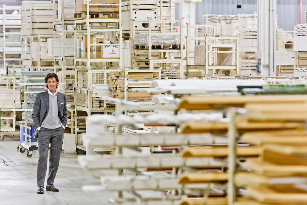 05 NOV 2010 - Casella d'Asolo (TV) - Carlo Piazzetta, amministratore delegato del Gruppo Piazzetta, produzione caminetti