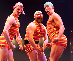 Edinburgh, Scotland, UK; 16 August, 2018. Artists from around the globe gather at The Underbelly Circus Hub to celebrate 250 years of circus.. Pictured; Splash Test Dummies from Australia