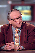 New York Times columnist William Safire during NBC's Meet the Press March 8, 1998 in Washington, DC.