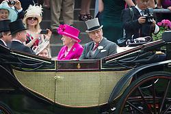 File photo of Prince Philip, the Duke of Edinburgh, pictured with Queen Elizabeth at Royal Ascot 2014, at Ascot Racecourse. Picture date: June 20th, 2014. Photo credit should read: Matt Crossick/ EMPICS