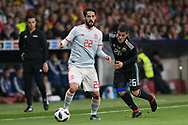 Isco of Spain and Fabricio Bustos of Argentina during the International friendly game football match between Spain and Argentina on march 27, 2018 at Wanda Metropolitano Stadium in Madrid, Spain - Photo Rudy / Spain ProSportsImages / DPPI / ProSportsImages / DPPI