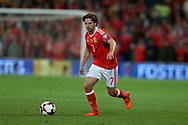 Joe Allen of Wales in action.Wales v Rep of Ireland , FIFA World Cup qualifier , European group D match at the Cardiff city Stadium in Cardiff , South Wales on Monday 9th October 2017. pic by Andrew Orchard, Andrew Orchard sports photography