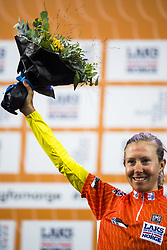 September 23, 2017 - Bergen, NORWAY - 170923 Hanna Nilsson of Sweden is awarded the salmon jersey after the Women Elite Road Race on September 23, 2017 in Bergen..Photo: Jon Olav Nesvold / BILDBYRN / kod JE / 160028 (Credit Image: © Jon Olav Nesvold/Bildbyran via ZUMA Wire)