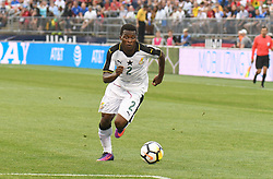 Saturday July 1, 2017: Thomas Agyepong (2) of Team Ghana hurries the ball up field during an match against the United States Men's National Team at Pratt & Whitney Stadium in East Hartford, Connecticut. Gregory Vasil/CSM(Credit Image: © Gregory Vasil/CSM via ZUMA Wire)