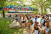 Atmosphere photographed at the Governors Ball Music Festival on Randalls Island in New  York City on June 4, 2016