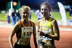 Laura Guzelj Blatnik and Neja Krsinar competes in 5000m Run during day one of the 2020 Slovenian Cup in ZAK Stadium on July 4, 2020 in Ljubljana, Slovenia. Photo by Grega Valancic / Sportida