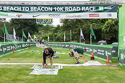 Beach to Beacon 10K, painting the finish line