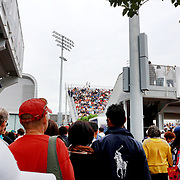 2017 U.S. Open Tennis Tournament - DAY EIGHT. Spectators watching and moving between outsides courts at the US Open Tennis Tournament at the USTA Billie Jean King National Tennis Center on September 04, 2017 in Flushing, Queens, New York City.  (Photo by Tim Clayton/Corbis via Getty Images)