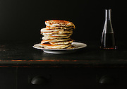 Pancake Stack with Maple Syrup