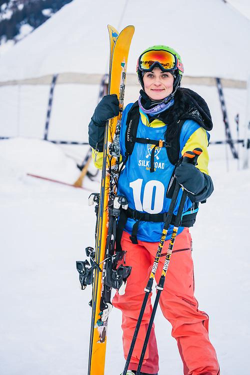 Lidia Zvoznikova (KG) - Day 3 Silk Road Freeride Competition, Jyrgalan, KG.