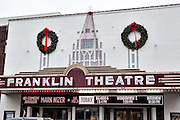 Franklin Theatre at christmas in Franklin, TN.