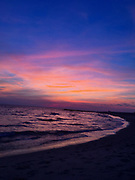 Sunset afterglow, Cape May Point, Atlantic Ocean