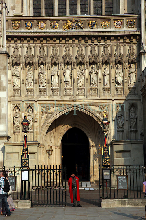 21 April 2011. London, England..Westminster Abbey, where Prince William is set to marry his bride Catherine Middleton. .Photo; Charlie Varley.