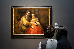 "Painting Isaac and Rebecca known as the ""Jewish Bride"" by Rembrandt van Rijn"