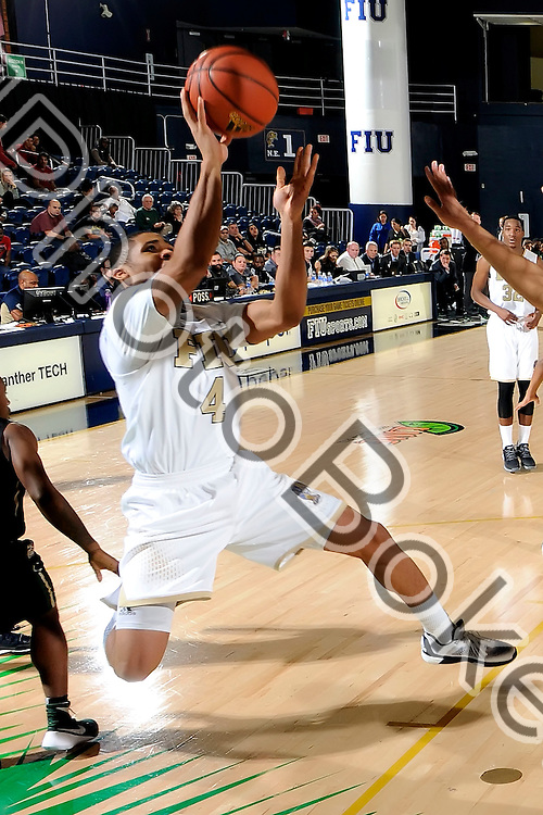 2016 January 28 - FIU's Kimar Williams (4). Florida International University fell to Charlotte, 69-72, at FIU Arena, Miami, Florida. (Photo by: Alex J. Hernandez / photobokeh.com) This image is copyright by PhotoBokeh.com and may not be reproduced or retransmitted without express written consent of PhotoBokeh.com. ©2016 PhotoBokeh.com - All Rights Reserved
