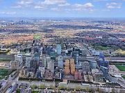 Nederland, Noord-Holland, Amsterdam; 17-04-2021; <br /> <br /> Overzicht vanuit Buitenveldert<br /> <br /> luchtfoto (toeslag op standard tarieven);<br /> aerial photo (additional fee required)<br /> copyright © 2021 foto/photo Siebe Swart