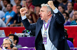 Sasa Doncic reacts during basketball match between National Teams of Slovenia and Latvia at Day 13 in Round of 16 of the FIBA EuroBasket 2017 at Sinan Erdem Dome in Istanbul, Turkey on September 12, 2017. Photo by Vid Ponikvar / Sportida
