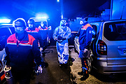 Val-d'Oise, Ile de France, France   First responders of Protection Civil are arriving to the house of a Covid-19 case.
