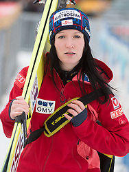 30.01.2015, Energie AG Skisprung Arena, Hinzenbach, AUT, FIS Weltcup Ski Sprung, Hinzenbach, Damen, Training im Bild Jacqueline Seifriedsberger (AUT) // during FIS Ski Jumping World Cup Ladies at the Energie AG Skisprung Arena, Hinzenbach, Austria on 2015/01/30. EXPA Pictures © 2015, PhotoCredit: EXPA/ Reinhard Eisenbauer