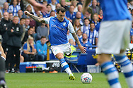 Sheffield Wednesday midfielder Ross Wallace (33) shoots at goal during the EFL Sky Bet Championship match between Sheffield Wednesday and Sheffield Utd at Hillsborough, Sheffield, England on 24 September 2017. Photo by Phil Duncan.