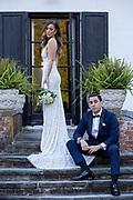 Fashion wedding couple