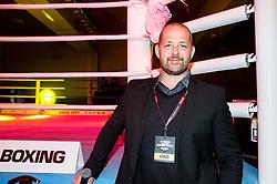 Moderator Dani Bavec during Dejan Zavec Boxing Gala event in Laško, on April 21, 2017 in Thermana Lasko, Slovenia. Photo by Vid Ponikvar / Sportida