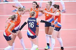 20150619 AZE: 1ste European Games Baku Servie - Nederland, Bakoe<br /> Nederland verslaat Servie met 3-2 / Robin de Kruijf #5, Femke Stoltenborg #2, Debby Pilon-Stam #16, Lonneke Sloetjes #10, Judith Pietersen #8, Maret Balkestein-Grothues #6
