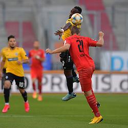 Spiel am 35 Spieltag in der Saison 2019-2020 in der 3. Bundesliga zwischen dem FC Ingolstadt 04 und dem SV Waldhof Mannheim am 24.06.2020 in Ingolstadt. <br /> <br /> Kevin Koffi (Nr.30, SV Waldhof Mannheim) und Tobias Schroeck (Nr.21, FC Ingolstadt 04)<br /> <br /> Foto © PIX-Sportfotos *** Foto ist honorarpflichtig! *** Auf Anfrage in hoeherer Qualitaet/Aufloesung. Belegexemplar erbeten. Veroeffentlichung ausschliesslich fuer journalistisch-publizistische Zwecke. For editorial use only. DFL regulations prohibit any use of photographs as image sequences and/or quasi-video.