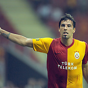 Galatasaray's Milan BAROS celebrate his goal during their Friendly soccer match Galatasaray between Liverpool at the TT Arena at Arslantepe in Istanbul Turkey on Saturday 28 July 2011. Photo by TURKPIX
