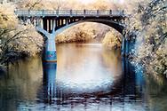 Bridge over Ladybird Lake shot in Infrared
